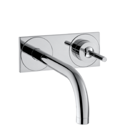 Køb AXOR Uno2 2-huls håndvaskarmatur 225 mm tud med bagplade | 702488104