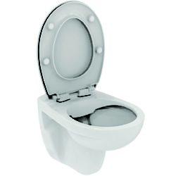 Køb Ideal Standard Eurovit væghængt toilet Rimless inkl softclose sæde model sandwich | 613125200