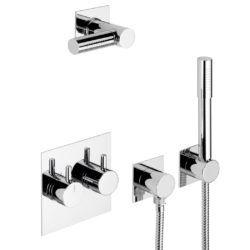 Køb Børma A6 Indbygningsarmatur til brus krom inklusiv hovedbruser | 727379104
