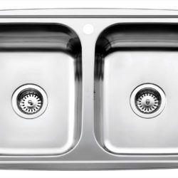 Køb Intra Juvel Horizon køkkenvask dobbelt HZ815DM 345 x 415 x 160 mm rustfri stål nedfældning | 681456130