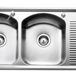 Køb Intra Juvel Mega køkkenvask IMPE80L 344 x 410 mm | 682163100