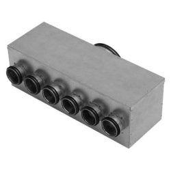 Køb Fordelerboks MHU 100 med 3 afgange Ø63 | 352837003