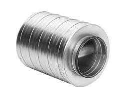 Køb Lindab lyddæmper SLBU Ø630 L=900 100 mm isolering med baffel   353980631