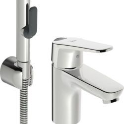 Køb Oras Vega håndvaskarmatur med Bidetta håndbruser og Eco funktion | 703894304