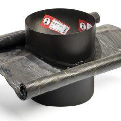 Køb Metalbestos Wood tagryg Ø230/130 15-32° flex   317639236