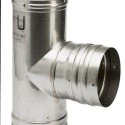 Køb Metalbestos Omega T-stykke 90° med fast gren Ø130 mm | 342842130