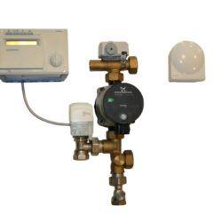 Køb Pettinaroli shunt med vejrkompenseringsanlæg til regulering af gulvvarme op til 320m2 | 466202810