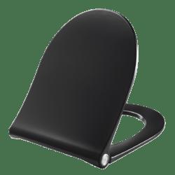 Køb Pressalit Spira toiletsæde sort SC og lift-off bund & topmonteret | 615068001