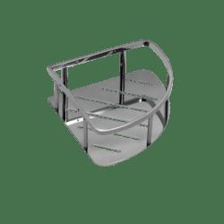 Køb Pressalit hjørnehylde poleret rustfri stål | 772471240