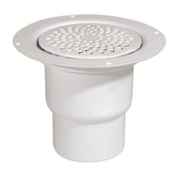 Køb Afløbsskål Purus 110 mm med vandlås med hvid plastrist | 153474116
