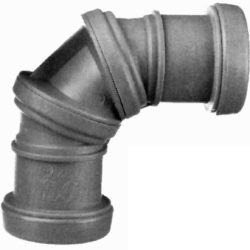 Køb Bøjning drejelig grå 40 mm 2 muffer | 186194040
