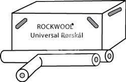 Køb Rørskål universal med tape 64X30/ 1 m PK/ 9 m   494370286