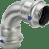 Køb Viega Sanpress Inox LF bøjning 90° muffe/muffe 18 mm | 980418354