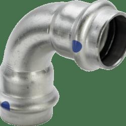 Køb Viega Sanpress Inox LF bøjning 90° muffe/muffe 42 mm | 980418357