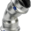 Køb Viega Sanpress Inox LF bøjning 45° muffe/muffe 42 mm | 980418370