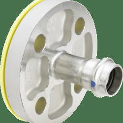 Køb Viega Sanpress Inox LF flangeovergang 42 mm (DN40) | 980418503