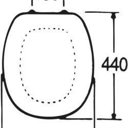 Køb Gustavsberg propensæde med låg hvid (325) | 614581000