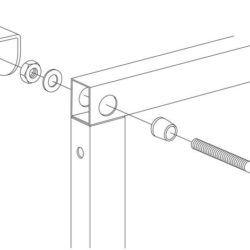 Køb Gustavsberg Triomont XS vægfæste til hjørnemontering | 617239902