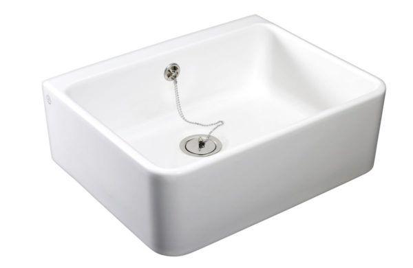 Køb Gustavsberg rengøringsvask 6321-99 med overløb hvid | 691061000