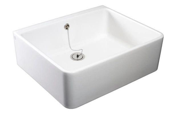 Køb Gustavsberg rengøringsvask 6322-99 med overløb hvid | 691063000