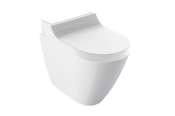 Køb Geberit AquaClean Tuma Comfort douchetoilet gulvstående sort/glas | 611123301
