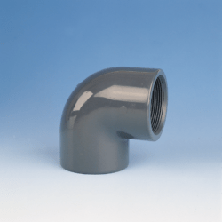Køb VINKEL PVC 90° muffe/muffe 40 mm X 11/4 PN16   061092040