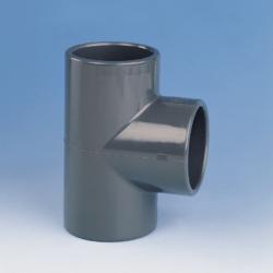 Køb TEE PVC 90° 200 mm PN10 | 061130200