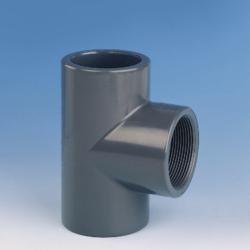 Køb TEE PVC 90° 16 mm X 3/8 M | 061137016