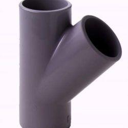 Køb PVC T- styk 45 GR 16 MM | 061165016