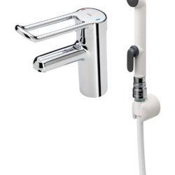 Køb Oras Medipro håndvaskarmatur uden bundventil med håndbruser