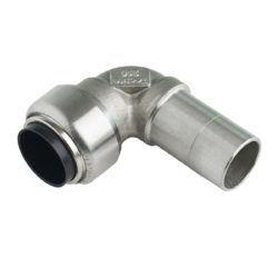 Køb Roth vinkel 90° 28 mm muffe/nippel rustfrit stål   046604328