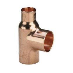 Køb Viega T-stykke 28 x 22 x 15 mm kobber | 042130334